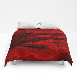 Blood Red Marble Comforters