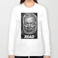 hemingway Long Sleeve T-shirts featuring Hemingway  by Ugly Borealis