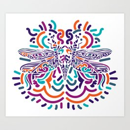 Colorful Fly Art Print