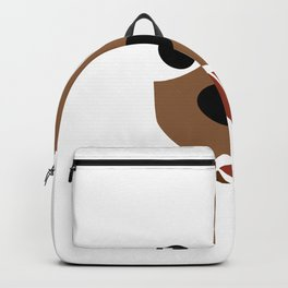 Dachshund Face Funny Dog Halloween Costume Backpack