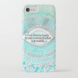 Positive affirmation, mindfulness quote, hand-drawn lettering, yoga art, yoga drawing, motivation iPhone Case