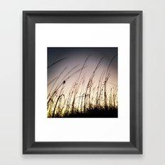 Sunset on Tybee Framed Art Print