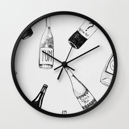 Wine Not? Wall Clock