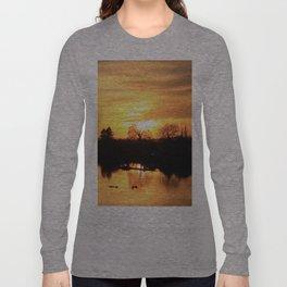 Floodplain at Sunset 3 Long Sleeve T-shirt