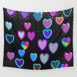 Confetti Hearts Wall Tapestry