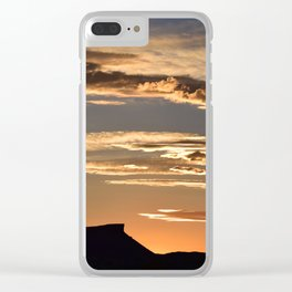 Golden Mesa Sunset Clear iPhone Case