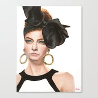moschino Canvas Prints featuring Moschino Fall 2012 by Johana Kafie