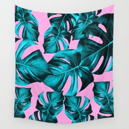 Monstera Leaves Summer Vibes Pattern #1 #tropical #decor #art #society6 Wall Tapestry