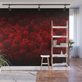 cherries pattern reaclidr Wall Mural