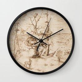 Hieronymus Bosch - The Tree-Man Wall Clock