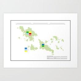 Anzac Map I Art Print