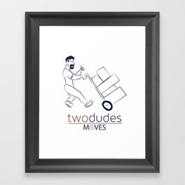 Two Dudes Moves Framed Art Print
