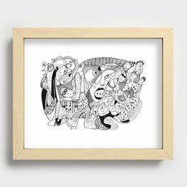 Squoodle 4 Recessed Framed Print