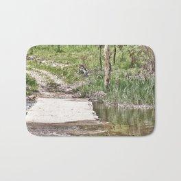 Rustic water crossing Bath Mat