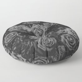 The Roses (Black and White) Floor Pillow