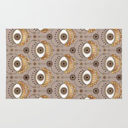 Gold Eyes Pattern Rug