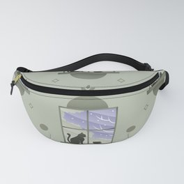 Happy At Home - Playful Cat Pattern V3 Fanny Pack
