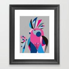 Miss Galah Framed Art Print