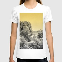 Yellow Fog Covered Mountains T-shirt