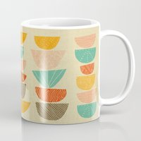 60s Mugs featuring Stacks by Monica Gifford