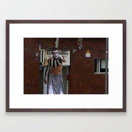 Streets of Catalunya Framed Art Print