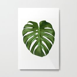 Classic Monstera Metal Print