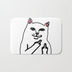 grumpy f**k you cat Bath Mat