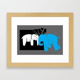 Smashing the Bell Elephant Framed Art Print