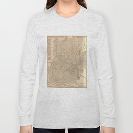 Vintage Map of New Orleans LA (1908) Long Sleeve T-shirt