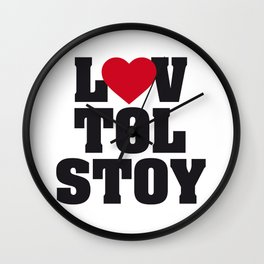 Lev LOVE Tolstoy Wall Clock