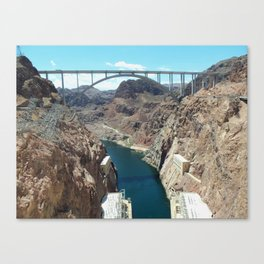 Beautiful View at the Hoover Dam Canvas Print