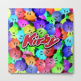 RIDE ON KIRBY CHARACTERS Metal Print