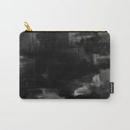 Pointless - Black and white abstract textured painting Carry-All Pouch