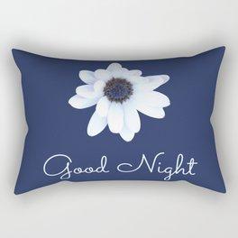 Good Night, Sleepy African Daisy Flower Rectangular Pillow