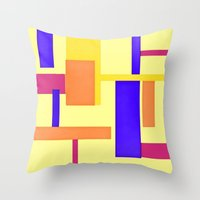 geo Throw Pillows featuring Geo by lillianhibiscus