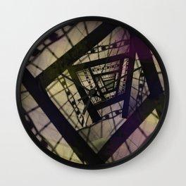 Abstract Mixed Media Design Wall Clock