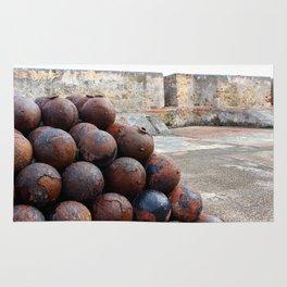 Cannonballs at San Felipe del Morro Rug