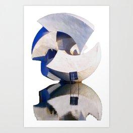 Brasilia Sculpture Art Print