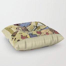 Wild hunt Floor Pillow