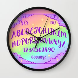 Purple and Rainbow Spirit Board Wall Clock