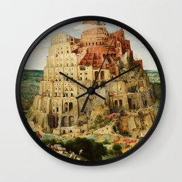 Tower Of Babel Pieter Bruegel The Elder Wall Clock
