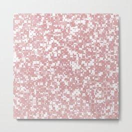 Bridal Rose Pixels Metal Print