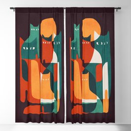 Cat Family Blackout Curtain