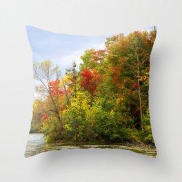 Leaning into Autumn Throw Pillow