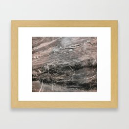 Smokey gray marble Framed Art Print