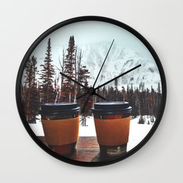 Snow, coffee and you * Wall Clock