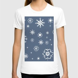 Blue Winter Dream #1 #snowflakes #decor #art #society6 T-shirt