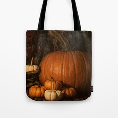 Glow on the Pumpkins Autumn Still Life Tote Bag