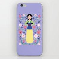 mulan iPhone & iPod Skins featuring Mulan by Carly Watts