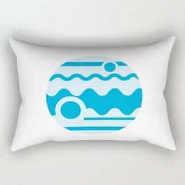 Minimalism Blue Jupiter Badge Rectangular Pillow